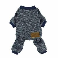 Fitwarm Knitted Thermal Pet Clothes for Dog Pajamas PJS Coat Jumpsuit, Medium