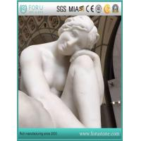 Natural White Marble Sculptures Famous Angel and Hercules Statue