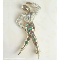 """Buy cheap Vintage MARCEL BOUCHER """"Harlequin"""" Ballet Dancer Pin from the """"Ballet of Jewels"""" Line ~ BOOK product"""
