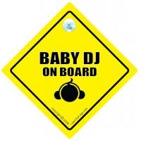China Baby DJ On Board Car Sign / Baby On Board on sale