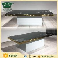 Golden frame stainless steel dinning table set with chairs for wedding