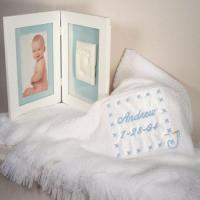 Buy cheap Personalized Baby Gifts Baby Blanket & Keepsake Frame Personalized Baby Boy Gift product