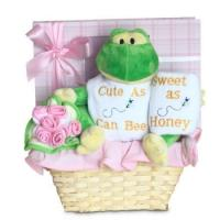 """Buy cheap Unique Baby Gifts Forever Baby Book """"Cute as Can Bee"""" Baby Girl Gift Basket product"""