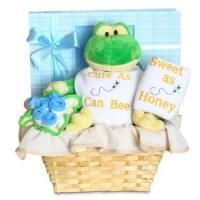 """Buy cheap Personalized Baby Gifts Forever Baby Book """"Cute as Can Bee"""" Baby Boy Gift Basket product"""