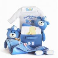 Buy cheap Personalized Baby Gifts Thank Goodness for Little Boys Baby Gift Basket product