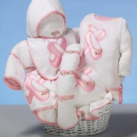 """Quality Baby Gift Baskets """"Ballet Slippers"""" Baby Gift Basket for sale"""