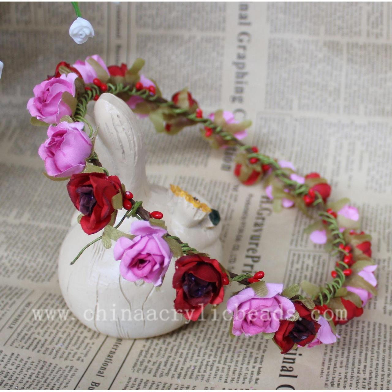 Buy cheap New Handmade 16-18CM pink&red color artificial flo--FHC013 product