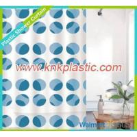 Buy cheap Fabric Shower Curtain Blue Dots Design Shower Curtain Fabric, Colorful Bathroom Curtain product