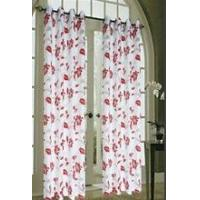 window burnout ready-made curtain with loops