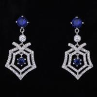 Buy cheap Latest Simple Style New Fashion Women White Gold Plated Cz Stone Girls Stylish Earrings product