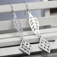 Made In China Custom Designs Willow Leaves Pattern Studs Earring Supplier