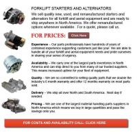 Buy cheap Forklift Alternators and Starters product