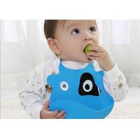 Cute Silicone Infant Bibs Blue Stylish With Soft Feeling