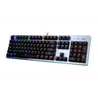 Buy cheap Professional Black White Mechanical Gaming Keyboard With Backlight Beautiful Design product