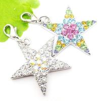 Buy cheap Fancy design paved rhinestone star charms pendant (custom made jewellery) product