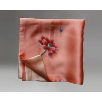 Buy cheap Handmade Embroidered Square Silk Scarves Handkerchief and Small Neck Scarves As Gift from wholesalers