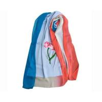 Buy cheap Summer Silk Georgette Gradient Ramp Shawl and Red Neck Scarves with Embroidery from wholesalers