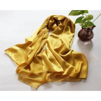 Buy cheap Red Long Pure 100% Silk Scarf for Ladies Satin Solid Color Shawl from wholesalers