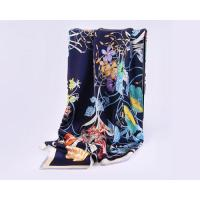 Buy cheap Fashion Large Square Silk Infinity Scarf for Women Crepe Satin Printing Hair Scarf from wholesalers