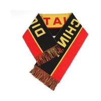 Buy cheap Men's Knitted Jacquard Weave Football Fans Scarves Half and Half with White Tassels UK from wholesalers