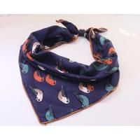 Buy cheap New Style Crochet Autumn Girl(kids) Floral Printing Twill Cotton Square Scarf Zara product