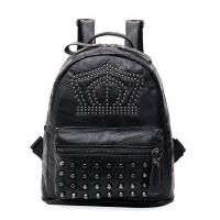 Punk Rivet and Skull PU Lady Casual Backpack