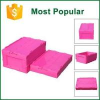 Buy cheap 60L 530x365x326mm Durable Foldable Container Box Plastic Crate For Supermarket product