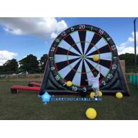Buy cheap New type inflatable foot darts game inflatable soccer kick dart board with magic tape product