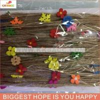 Buy cheap BEAUTIFUL COLOR JUTE RIBBON WITH WOODEN APPLIQUE product