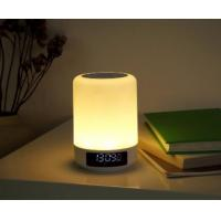White cordless music lamp in touch control