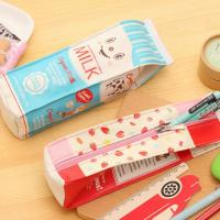 Buy cheap Simulation Milk Box PU Leather Pencil Case product