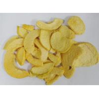Low Fat Freeze Dried Fruit , Yellow Dried Peach Chips 0.3-0.5% Citric Acid