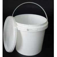 5L Round Plastic Packaging Bucket with Metal Handle