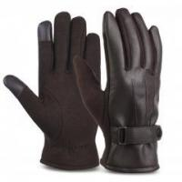 Quality VBIGER Leather Gloves Winter Mittens Touch Screen Gloves for Men for sale