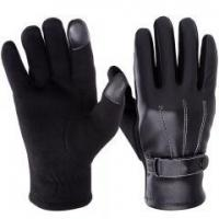 Buy cheap VBIGER Leather Gloves Winter Mittens Touch Screen Gloves For Men from wholesalers