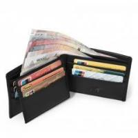 Buy cheap Vbiger RFID Blocking Leather Wallet for Men with Credit Card Slots, I.D. Window GIFT BOXED(Black) product