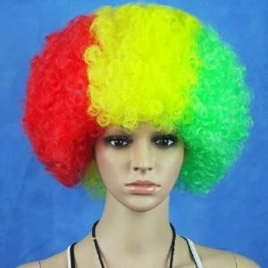 Quality Hot Sale Football Fans Fun Afro Wigs for sale