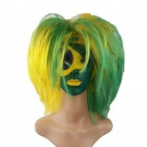 Quality Custom Color Team Sports Football Fans Afro Wigs for sale