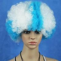 Buy cheap Argentina Football Fan Wigs in Blue and White Color for Fans Wigs product