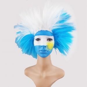 Quality Clown Wigs Football Fans Wig Colorful Afro Wigs for sale