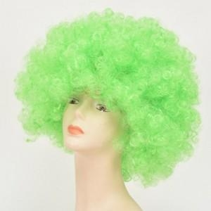 Quality Colors Synthetic Party Sports Fan Big Curly Afro Wigs for sale