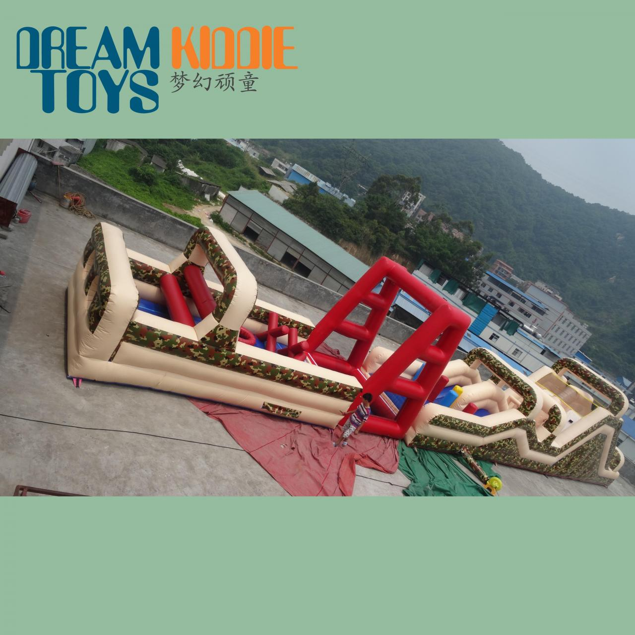 Buy cheap giant inflatable military obstacle course for sale product