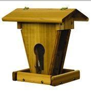 "Stovall Wood Peanut Sunflower Feeder With 1/4"" Mesh SP20F SP-20F"