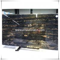 Buy cheap ES-M16 Italy Portoro polished Black and Gold Marble product