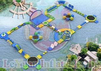 Quality Challage Customzied Inflatable Water Toys / Large Floating Water Park for sale