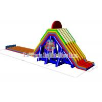 Buy cheap Customize Color Giant Water Slide , Inflatable Floating Water Slide product