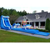 Buy cheap Wave Blast Large Water Slide With Climbing Air - Filled Rock Wall product