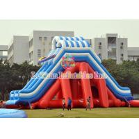 Buy cheap PVC Tarpaulin Giant Water Slide / Commercial Inflatable Slides For Event product