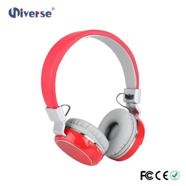 Quality New Arrival Low Price Customize Wireless Stereo Headphone FM Radio Headphone With Sd Card Slot for sale