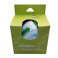 Buy cheap Leather soft toy rugby ball PVC and fibre cotton product